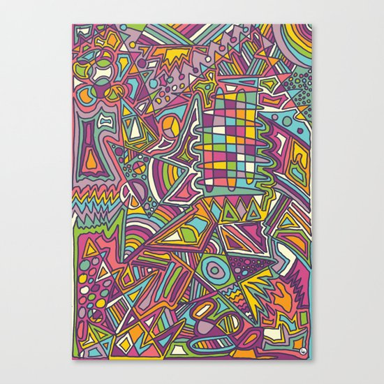 Colourful Chaos Canvas Print
