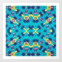 Geo-Brights Art Print