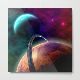 Double Planets Metal Print