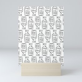 Vintage Bottle Collection Illustrated Repeat Pattern Print Mini Art Print