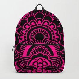 Mandala Flower Pink & Black Backpack
