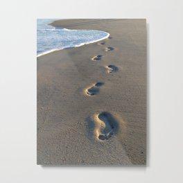 Wrightsville Beach Footprints Metal Print