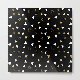 Multi Triangles - Black Metal Print