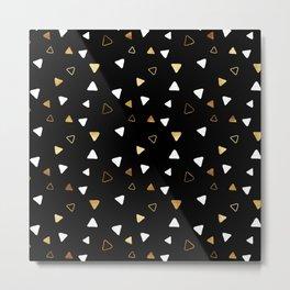 Multi Triangles - Black Metal Print