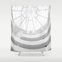 Guggenheim Interior | Frank Frank Lloyd Wright Architect | New York Shower Curtain