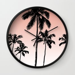 Sunset palms Wall Clock