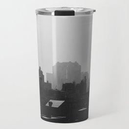 Black and White city Travel Mug