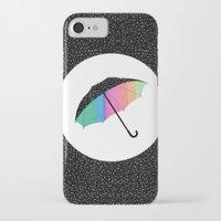 umbrella iPhone & iPod Cases featuring umbrella by Luna Portnoi