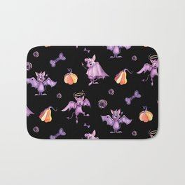 Purple bats Bath Mat