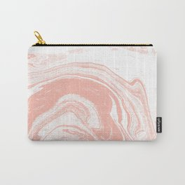 Marble pink 4 Suminagashi watercolor pattern art pisces water wave ocean minimal design Carry-All Pouch