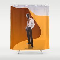 desert Shower Curtains featuring Desert by Aletifer