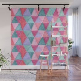 pastel triangle pattern Wall Mural
