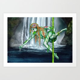 Pole Creatures - Water Nymph Art Print