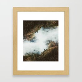 Forest Layers Framed Art Print