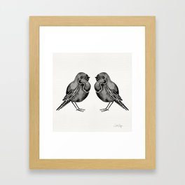 Little Blackbirds Framed Art Print