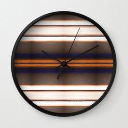 Rich Rustic Brown Stripes Wall Clock
