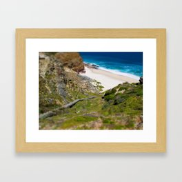 down the beach path Framed Art Print