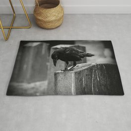 Cemetery Crow Rug