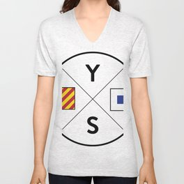 Young Salts Logo - Color Unisex V-Neck