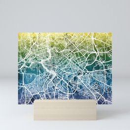 Rome Italy City Street Map Mini Art Print