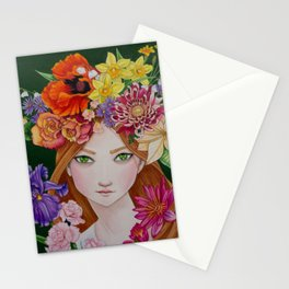 Douze Mois de Fleurs (12 Months of Flowers) Stationery Cards