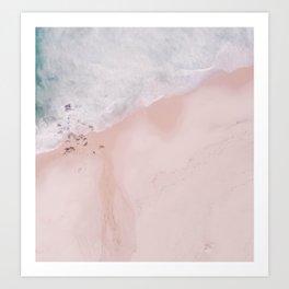 Sands of Pearl Blush Pink Art Print