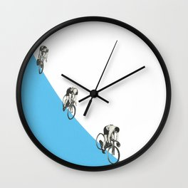 Riders on a Form Wall Clock