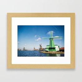 Windmills by the Sea Framed Art Print