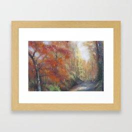 Fall Walk Framed Art Print