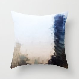 London Abstract Throw Pillow