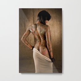 Lepa in Cotton Metal Print