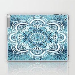 Aqua Turquoise Mandala Laptop & iPad Skin