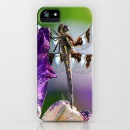 Dragonfly on Iris iPhone Case