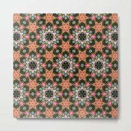 Flower Star Patch Photo Kaleidoscope Pattern Metal Print