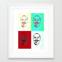 actor Framed Art Prints featuring Character Actor by Chiz Pimento