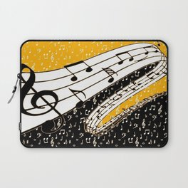 Gold music theme Laptop Sleeve