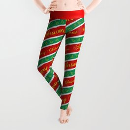 Christmas Wrapping Paper Leggings