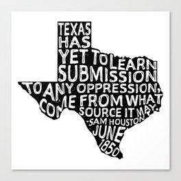 Texas Y'All Canvas Print