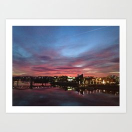 Home Sweet Home, Chattanooga Citiscape Art Print