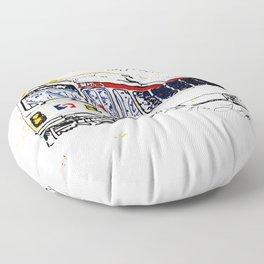 Septa Trolley Art: Philly Public Transportation Floor Pillow