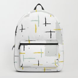 Retro Terrazzo Speckled Abstract Pattern Backpack