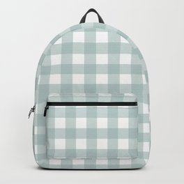 Blue Check Pattern Gingham Blue White Backpack