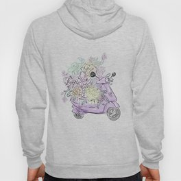 flowers and scooter 2 Hoody