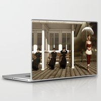scandal Laptop & iPad Skins featuring The victorian scandal by Britta Glodde