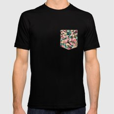 blending mode MEDIUM Black Mens Fitted Tee