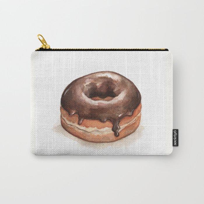 Chocolate Glazed Donut Carry-All Pouch