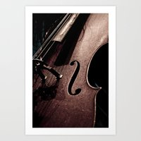 cello Art Prints featuring Cello by Sergio Bastidas