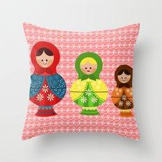 Matrioskas (Russian dolls) Throw Pillow