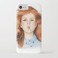 ginger iPhone & iPod Cases featuring Ginger by Sugar Doll