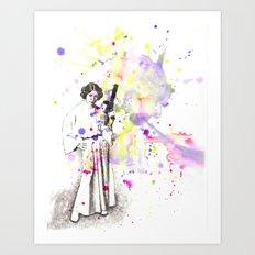 Princess Leia From Star Wars Art Print